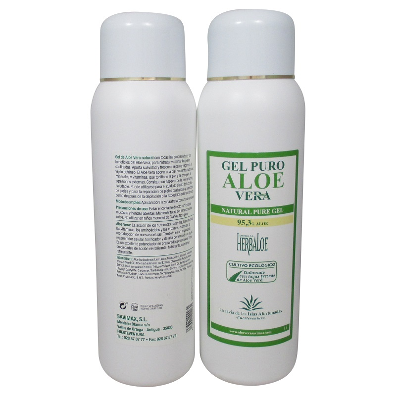 herbaloe gel puro de aloe vera 1000 ml. Black Bedroom Furniture Sets. Home Design Ideas