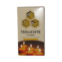 Beeswax Tealight Candle, 6 Stck.